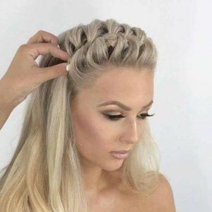 French Plait Hair Style Fashionigirls